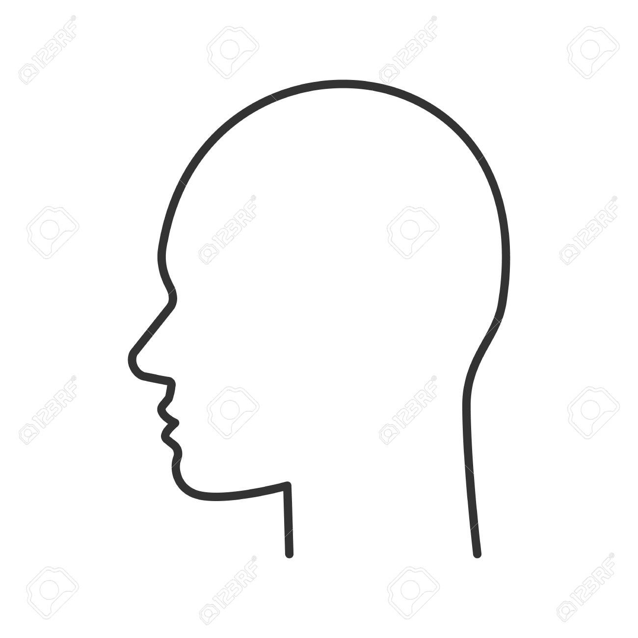 Image Result For Side Face Vector Side View Of Face Outline Drawings Modern Graphic Design