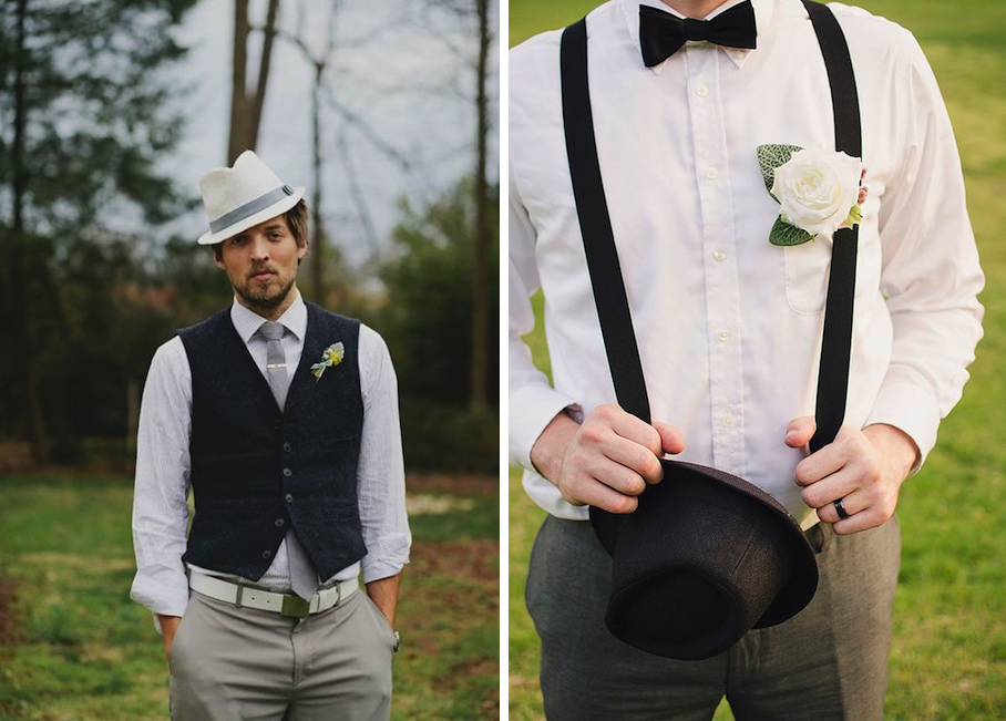Top hats are another way to spruce up the guys looks.
