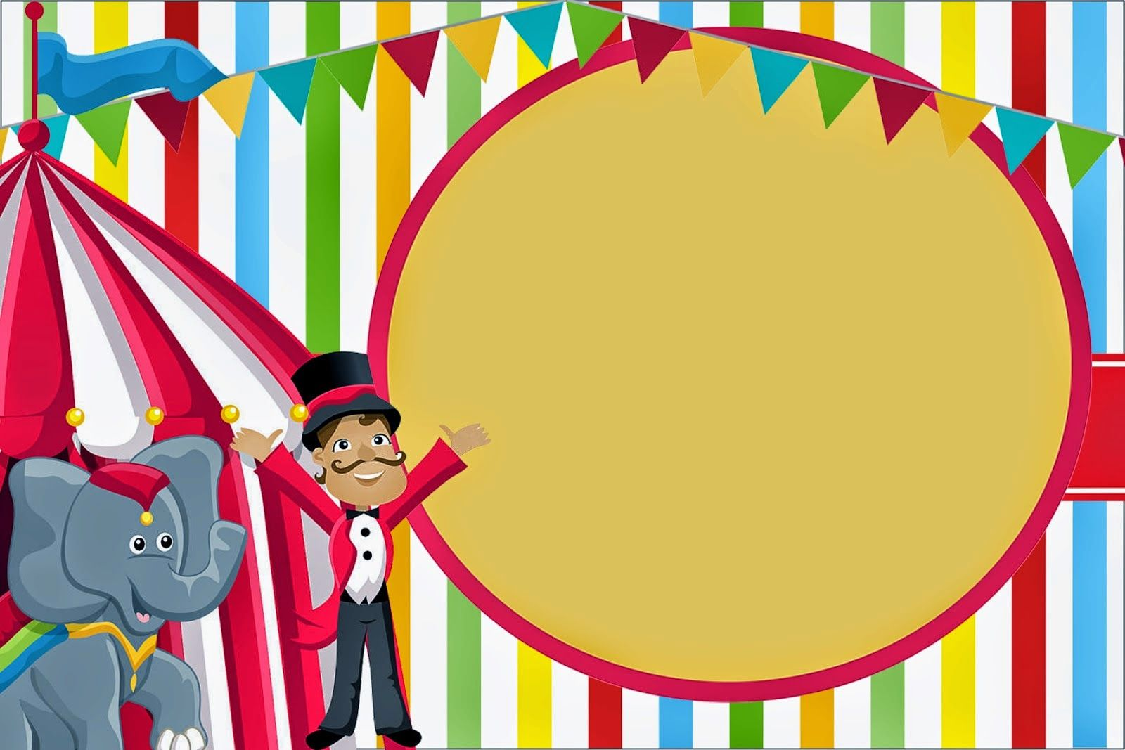The Circus Free Printable Invitations And Candy Bar Labels