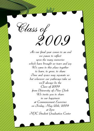2017 wording verses verbiage graduation announcement design in - Graduation Invite Wording