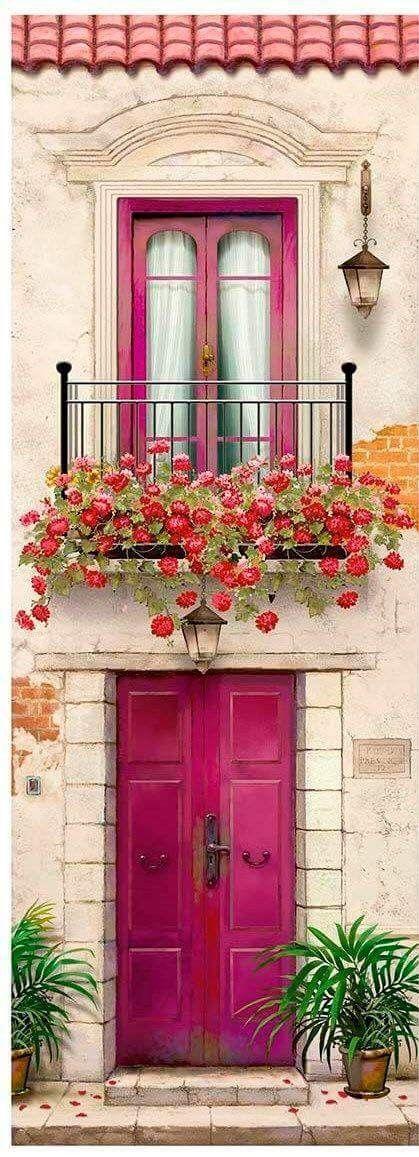 Portas   Image maison, Peinture maison, Porte fenetre
