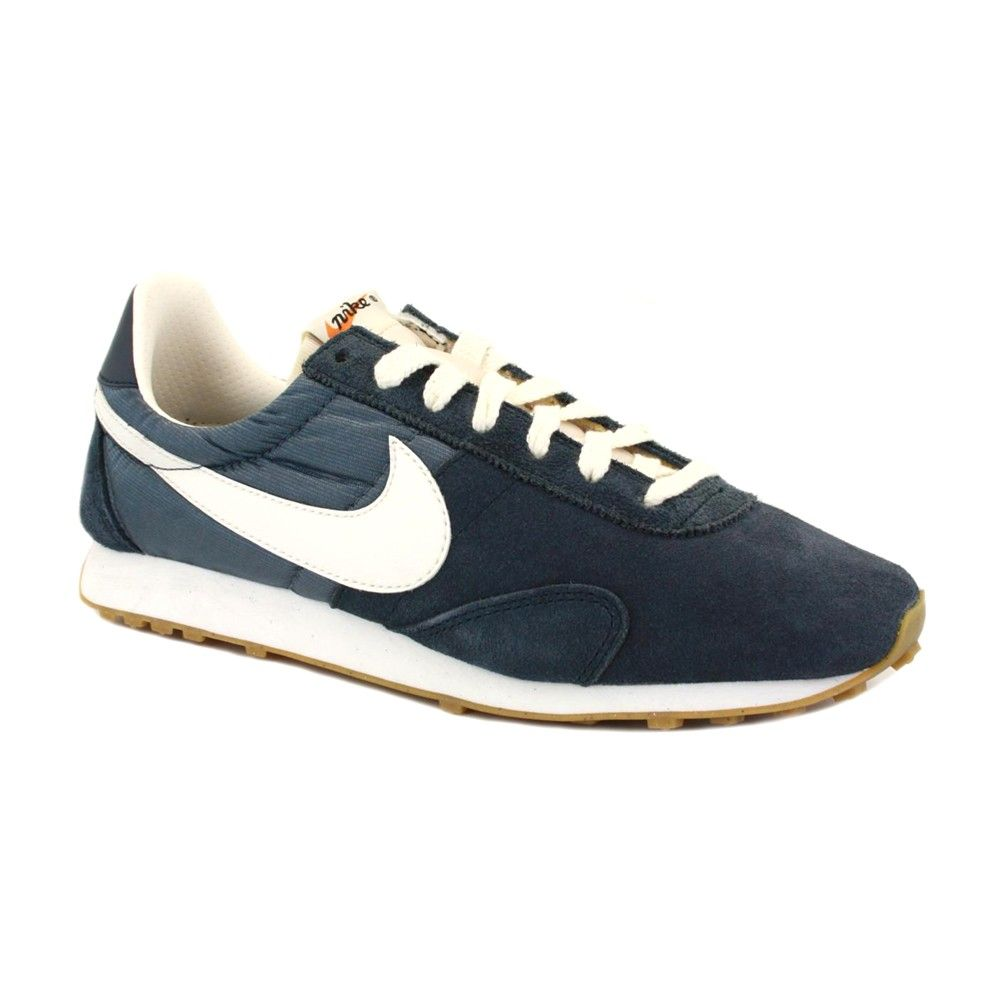 1730c1dc06424a Nike Pre Montreal Racer Vintage 555258 403 Womens Laced Suede   Nylon  Trainers Navy