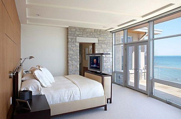Fernseher Schlafzimmer ~ Fenster bett beine meer schlafzimmer schlafzimmer