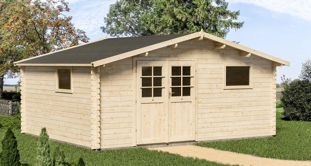 5786ea5ccd150 Abri de jardin en bois 34 mm PORTIER 21