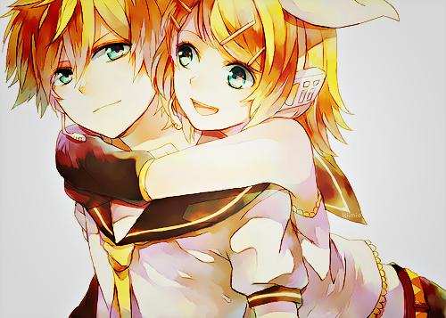 Len & Rin - Vocaloid. Sibling love. <3
