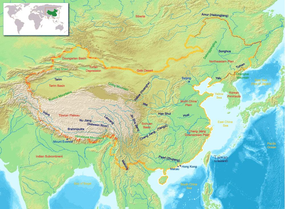 China geography map environments pinterest geography map china geography map gumiabroncs Gallery
