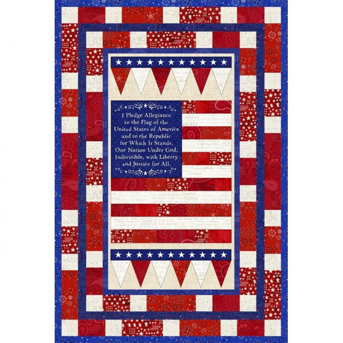 American Dreams Panel Quilt Kit from American Quilter's Society