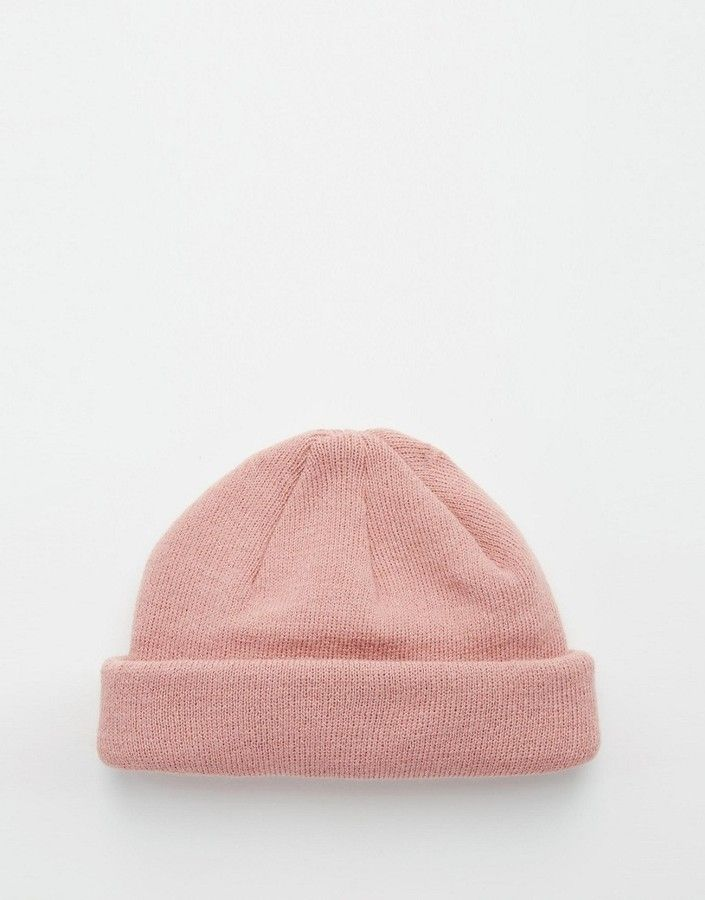 6e3ecaea894 ASOS BRAND ASOS Mini Fisherman Beanie In Pink