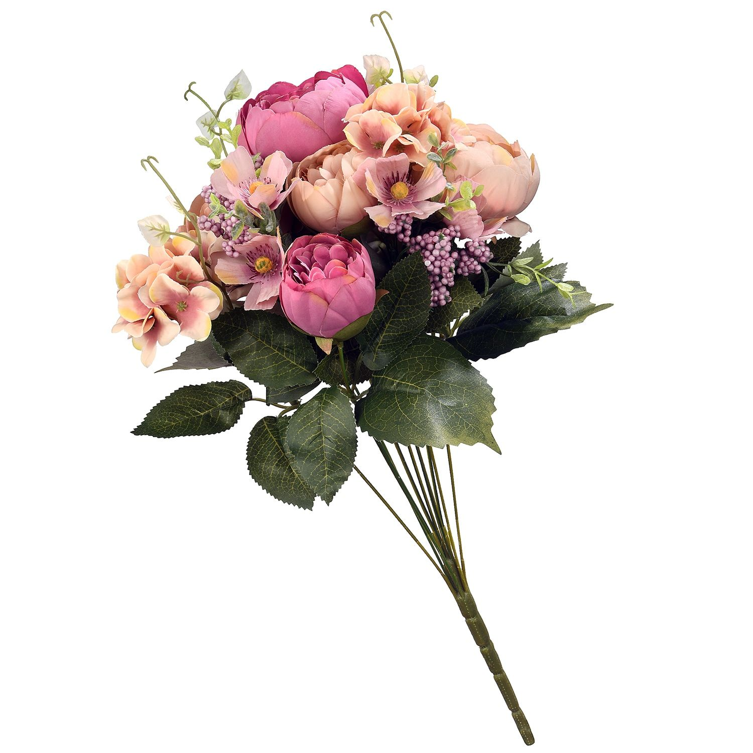 National Tree Company 19in. Artificial Assorted Pink Rose