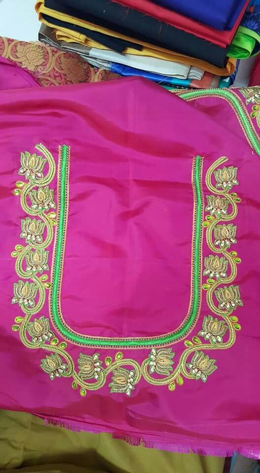 6bd9468fd15027 Pin by Lilysha Rani on heavy maggam work blouses | Blouse designs ...