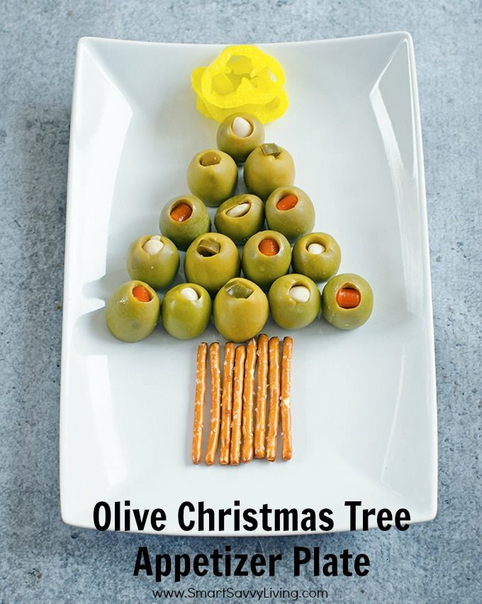 Olive Christmas Tree Appetizer Plate Recipe PARTY FOOD