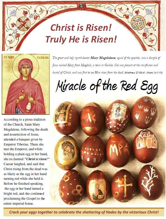 Why Orthodox Christians dye eggs red for Pascha (Easter)