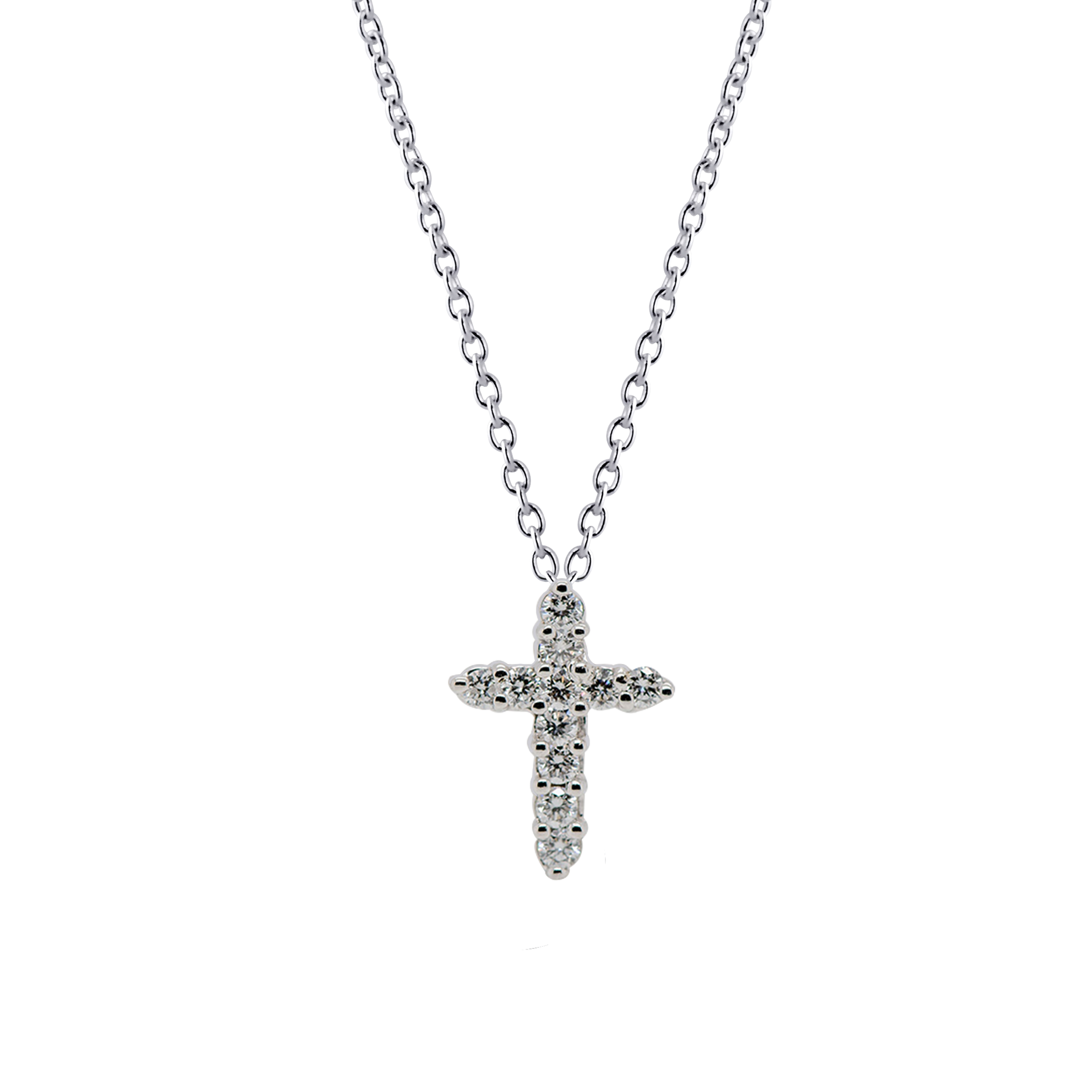 14 Kt White Gold Pendant With Diamonds And 16 Inch Gold Chain Etsy White Gold Pendants White Gold Cross Pendant White Gold Chains