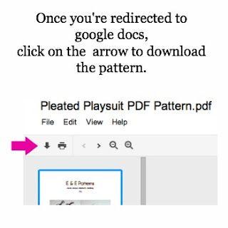 Pleated Playsuit Pattern