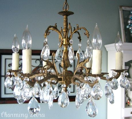 1950 S Crystal And Brass Chandelier Perfect For My Dining Room