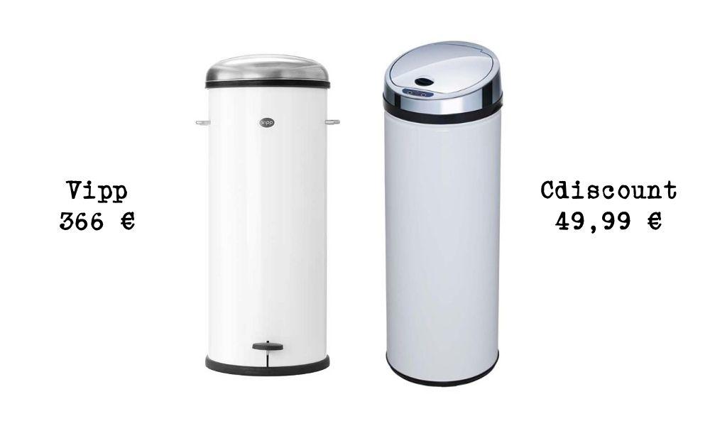 Poubelle Vipp le même en moins cher : une poubelle design | dan