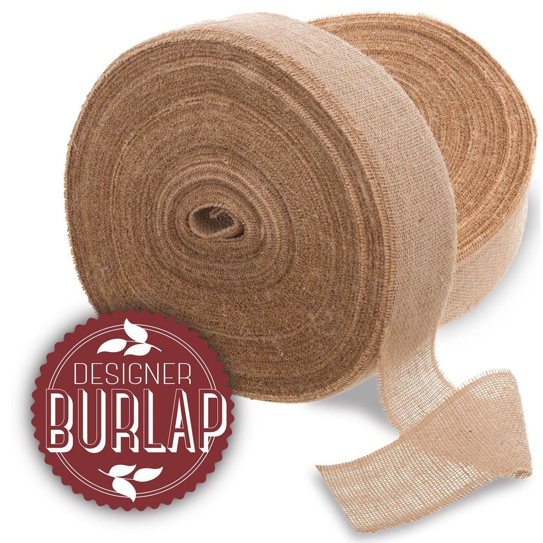 Amazon Com Burlap Ribbon 4 X 100 Yards Long Burlap Roll Perfect For Weddings Tie Backs Sashes Wreaths Table Runners Burlap Ribbon Burlap Burlap Bows
