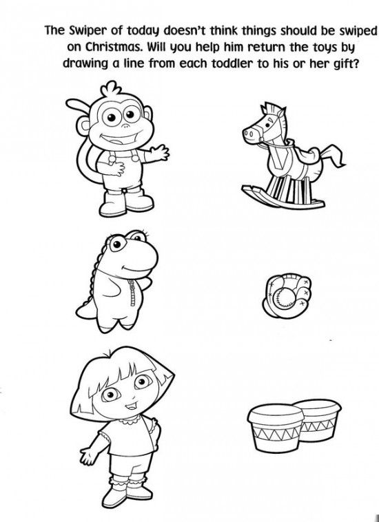 Free Printable Dora Christmas Coloring Pages Picture 32 550x758