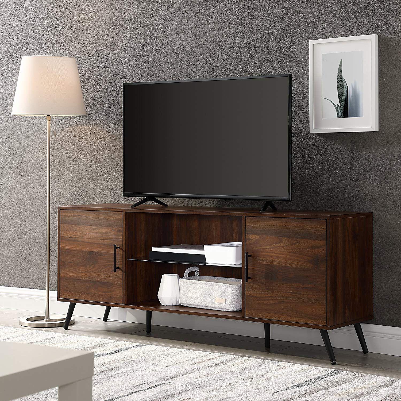 Best Amazon Com We Furniture Az60Nor2Ddw Tv Stand 60 Dark 640 x 480