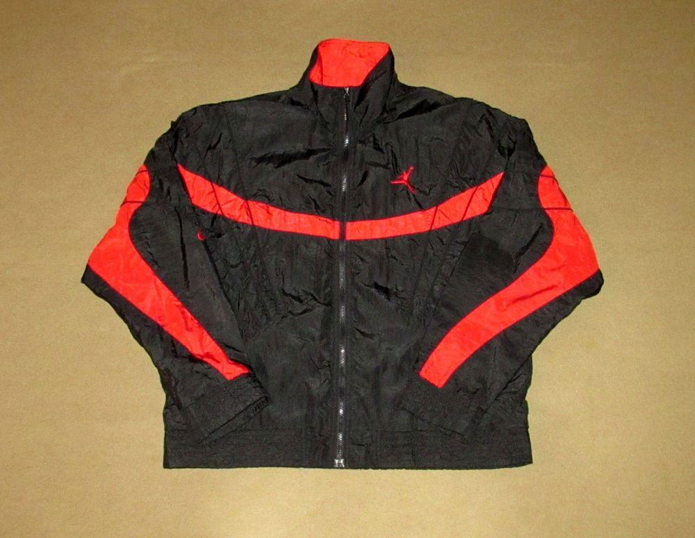 Vintage Air Jordan Jacket Flight Nike Large Chicago Bulls Michael Basketball Jordan Jackets Air Jordan Jacket Air Jordans