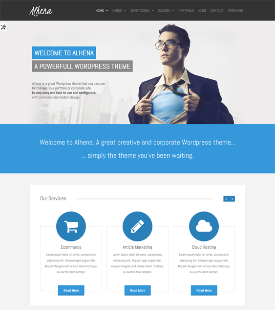 This free responsive business WordPress theme includes easy customisation, CSS3 and HTML5, 14 predefined colour variations, 4 custom widgets, a widgetized sidebar, a clean design, and more.