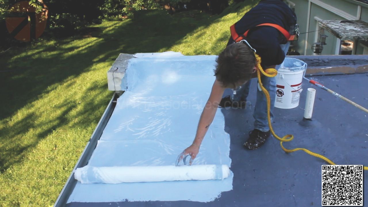 Elastomeric Foam Membrane White Roof Products And Installation Photos Installation Hot Tub Roofing