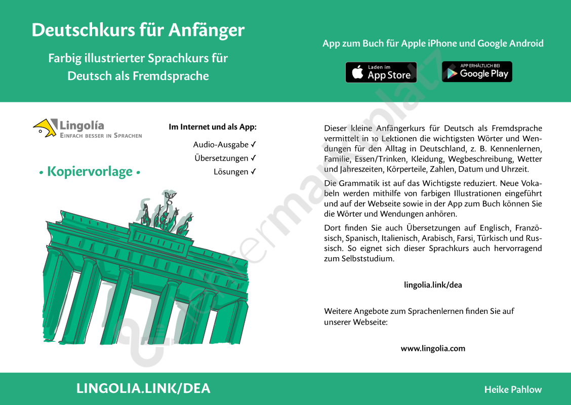 Deutschkurs für Anfänger | Lingo4you | Pinterest | Deutschkurs ...