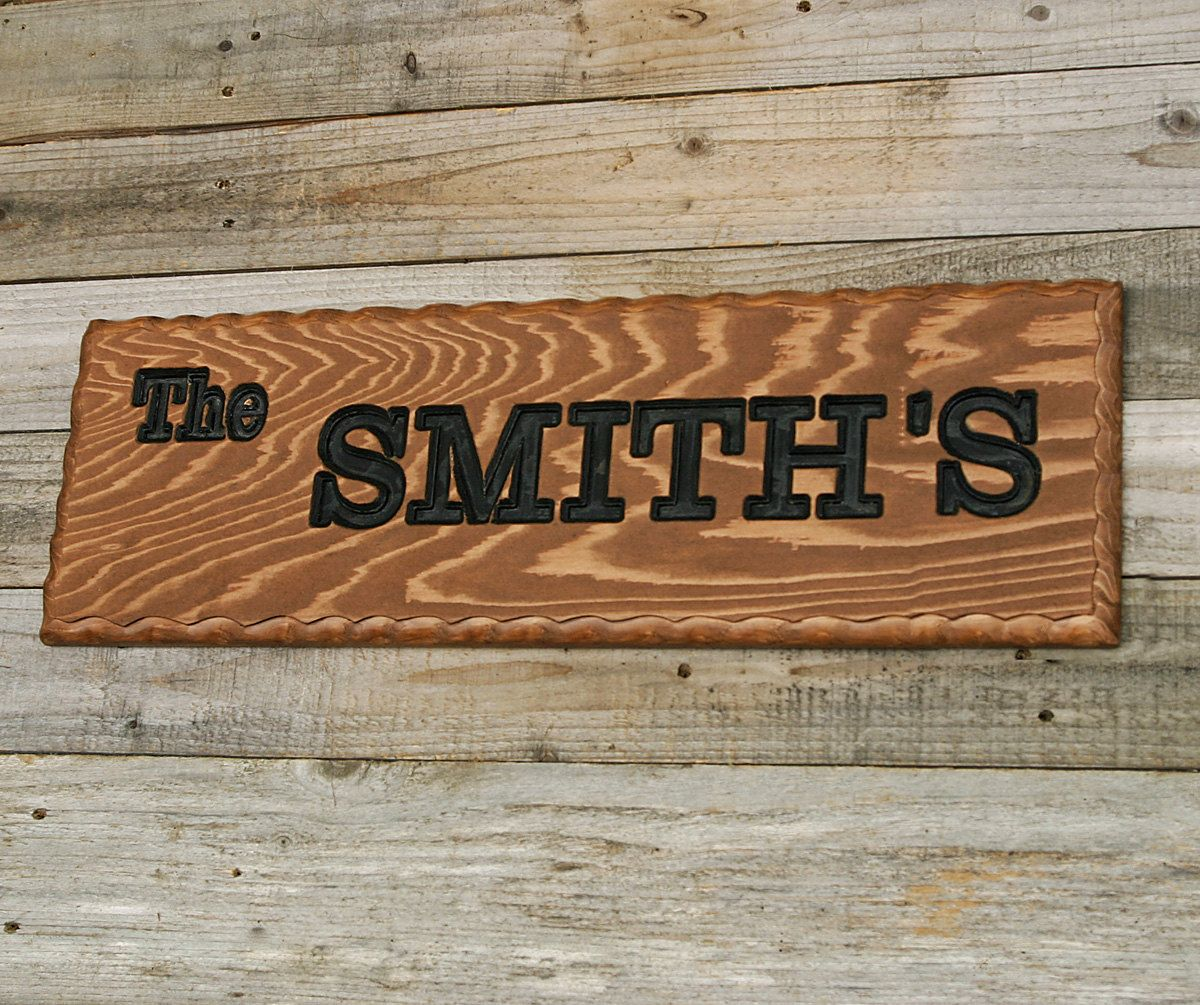 custom wood sign family name sign rustic wood sign carved wood