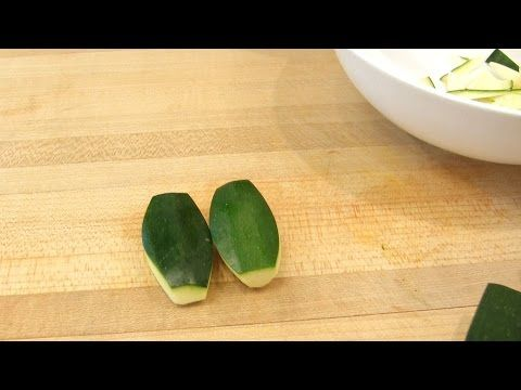 Tourné Cut - How to Turn Zucchini and Carrots - YouTube