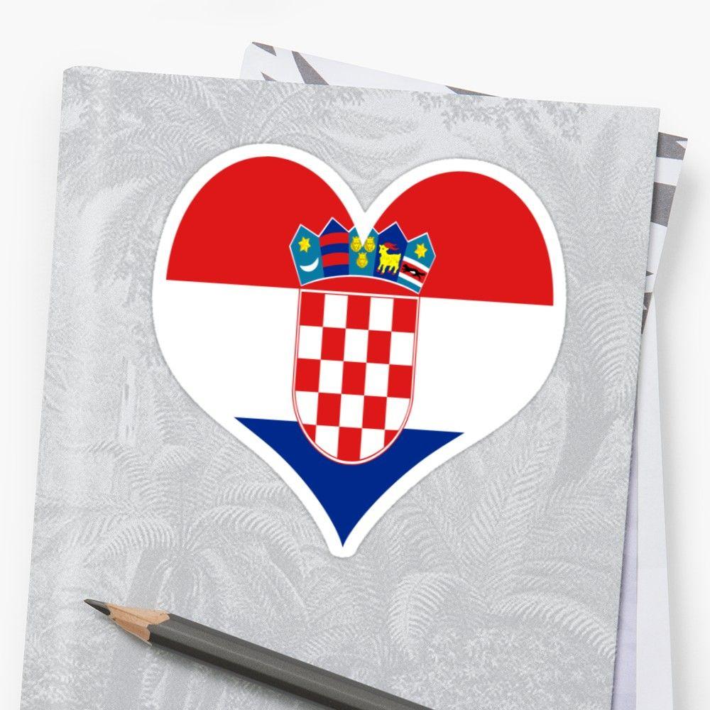 Kroatien Flagge, Herz