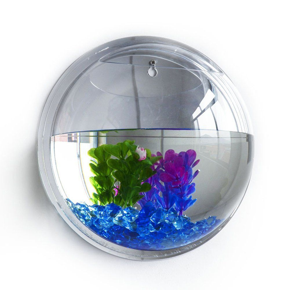 How To Decorate Fish Bowl Amazon  Ueb Wall Hanging Fish Tank Plant Wall Hanging Mount