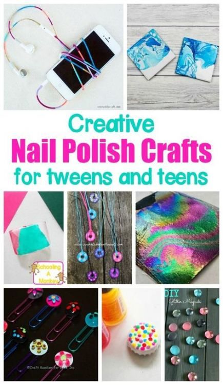Photo of Trendy Craft To Do When Bored For Teens Nail Polish 64 Ideas