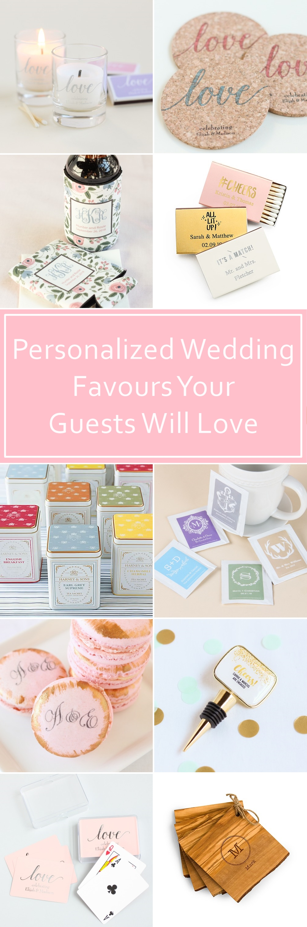 Awesome Personalized Wedding Favors Your Guests Will Love ...
