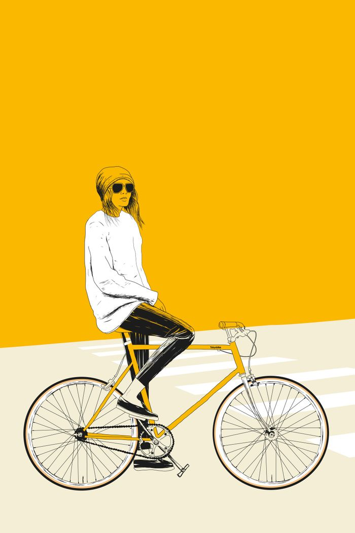 The Yellow Bike Art Print By The Red Wolf Society6 In 2020