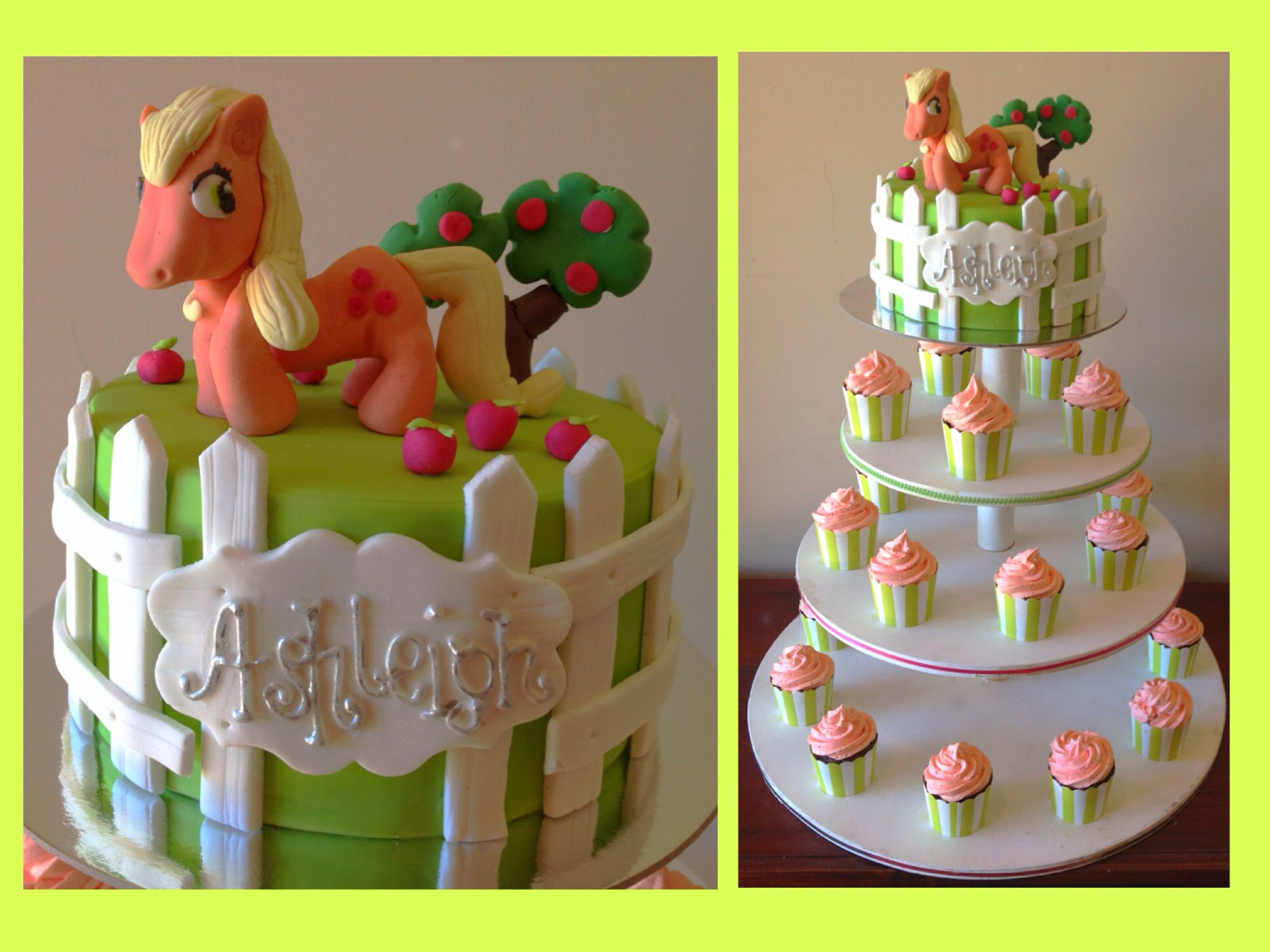 Applejack Apple Jack My Little Pony Cake Cupcakes Bday Parties