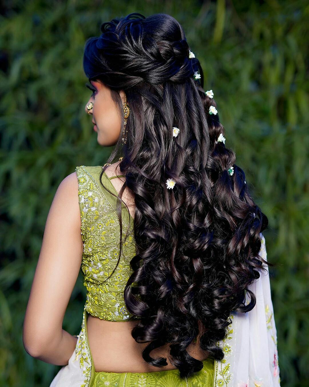 Best Hairstyle For A Wedding, Mehndi And Haldi With Floral   Easy, beautiful hairstyles ...