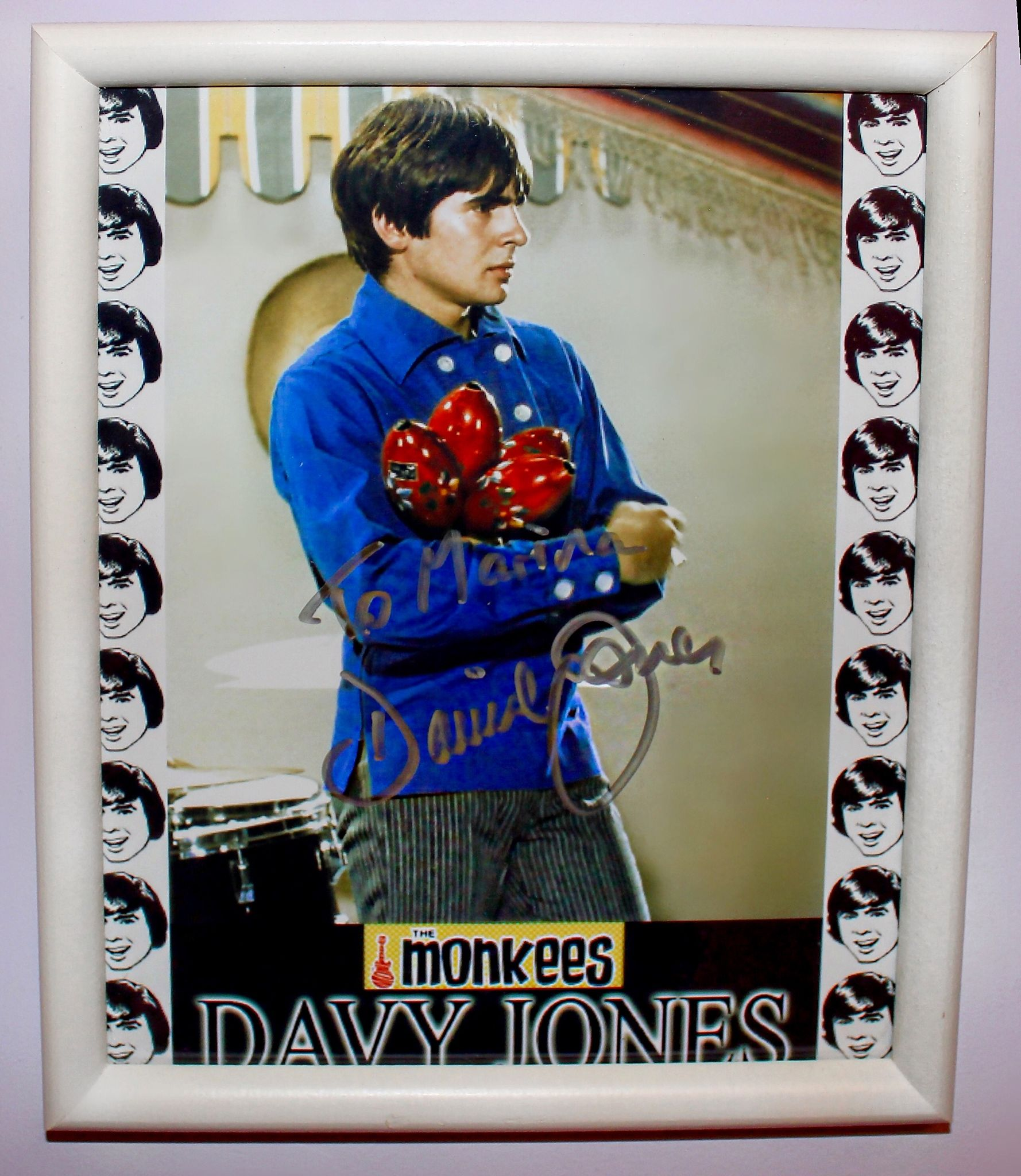 Autograph from 60's actor/singer Davy Jones from my favorite band The Monkees.