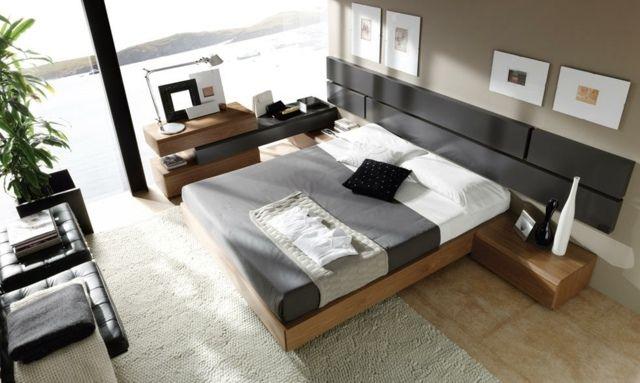 modernes Schlafzimmer einrichten Ideen grau Bett | Schlafzimmer in ...