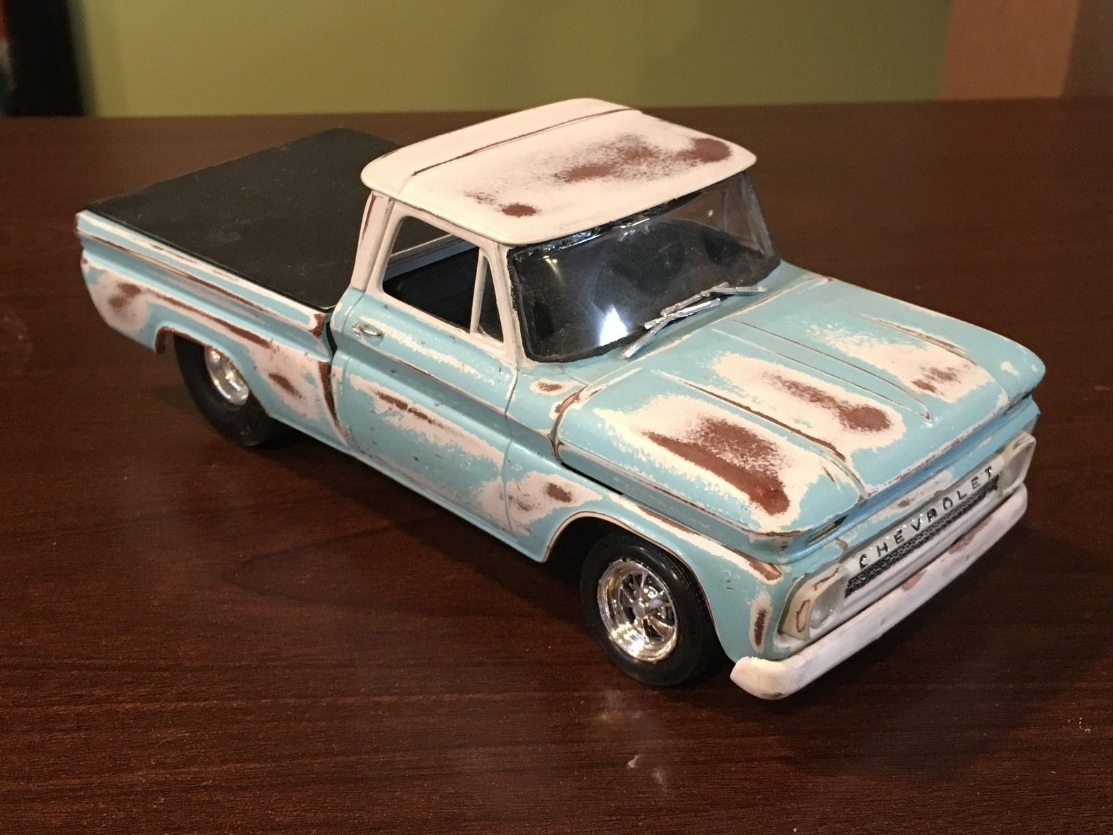 1964 Chevy Fleetside Pickup Truck Car Model Kit Rat Rod Wreck Junkyard Ebay