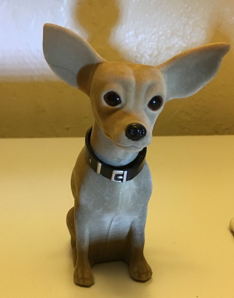 Rare Vintage Talking Taco Bell Hard Plastic Bobble Head Chihuahua