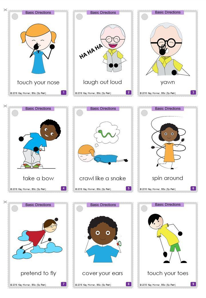Following Directions 135 Cards With Visuals Differentiated Expressive Language Activities Following Directions Special Education Autism