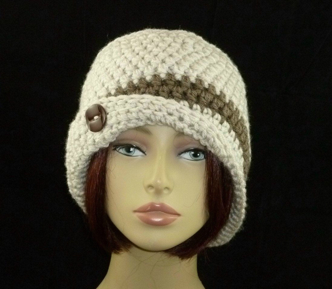Sonya Flapper Cloche Hand Crocheted by HandmadeCottage on Etsy, $29.00