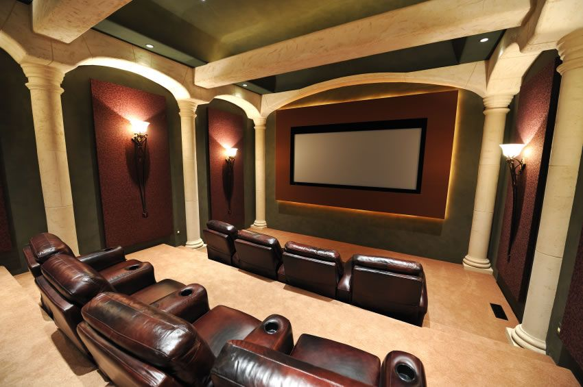 Home Theater Design Ideas view in gallery basement remodel turns the space into a lavish home theater design custer design group 25 Top Modern Basement Design Ideas Home Movie Theatershome
