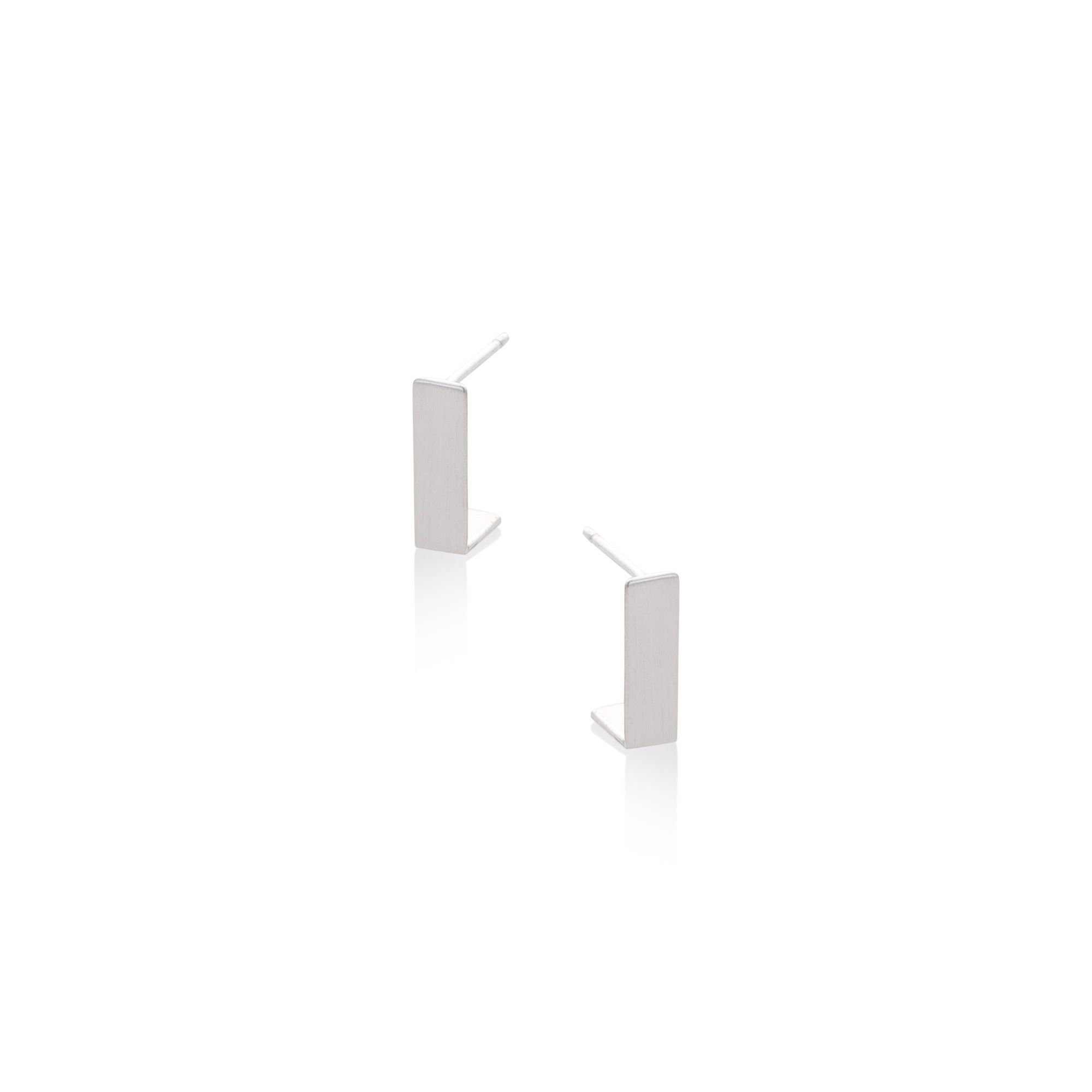Buy the Angular Hook Silver Stud Earrings at Oliver Bonas. Enjoy free worldwide standard delivery for orders over £50.