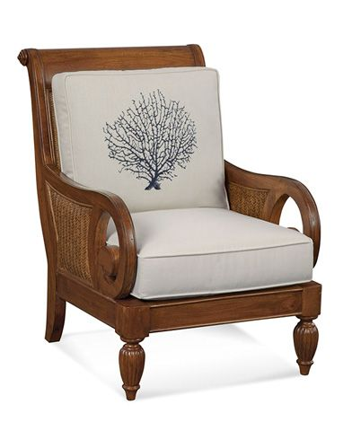 Braxton Culler Wood And Wicker Chair With Cushions 934 001