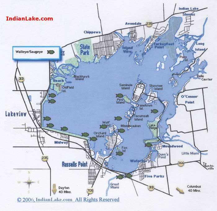 map of indian lake ohio Indian Lake Print This Page Indian Lake Lake Location Map map of indian lake ohio