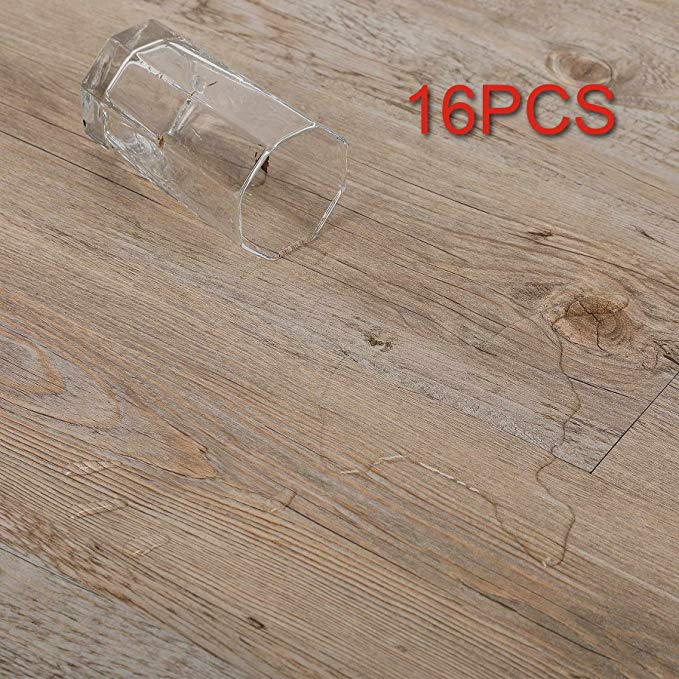 Co Z 16 Pcs 24 Square Feet Vinyl Floor Planks Adhesive Floor Tiles 2 0mm Thick Ash 24 Sq Ft Pack A Adhesive Floor Tiles Vinyl Flooring Plank Flooring