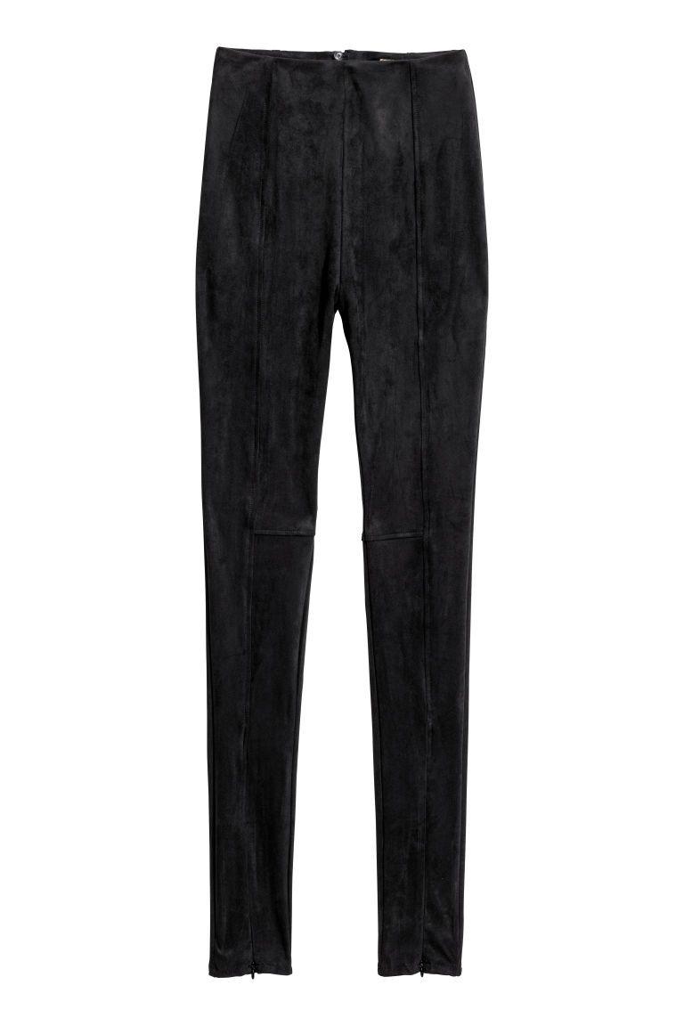 suede broek zwart