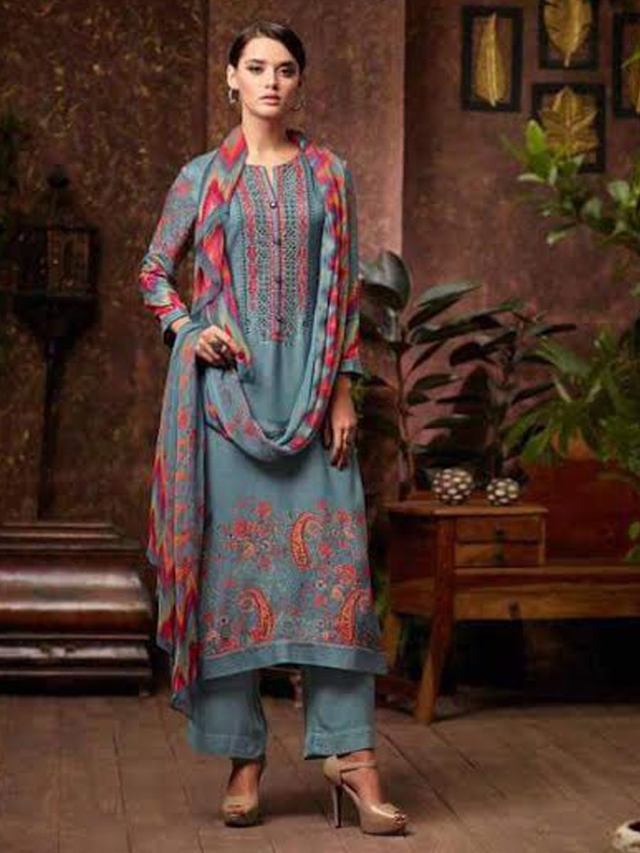 779a5fe7c1 Sahiba Ibadat Pashmina Suits Collection | Pashmina Collections ...