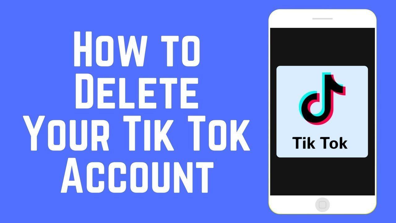How To Delete Tik Tok Account Accounting Tik Tok Tok